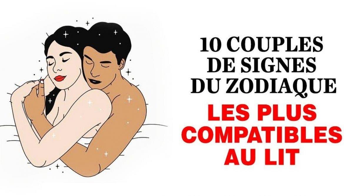 10 couples de signes du zodiaque les plus compatibles au lit