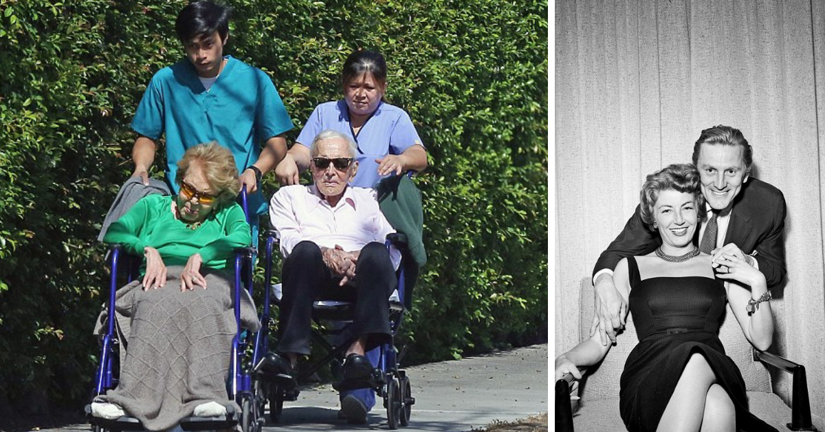 Kirk Douglas, 101 ans et sa femme de 99 ans sont toujours inséparables après 64 ans de mariage heureux, voici leurs secrets