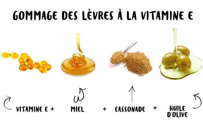 14 Gommage des lèvres à la vitamine E