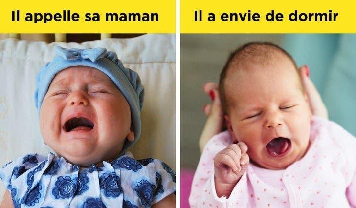 signes pour décrypter ce que veut dire un bébé