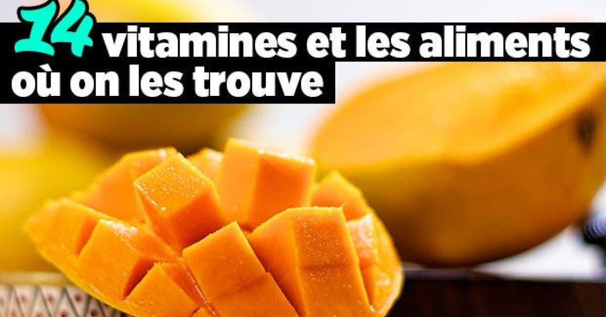 14 vitamines et les aliments ou on les trouve11
