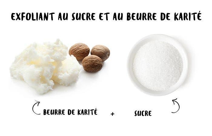 18 Exfoliant au sucre et au beurre de karité