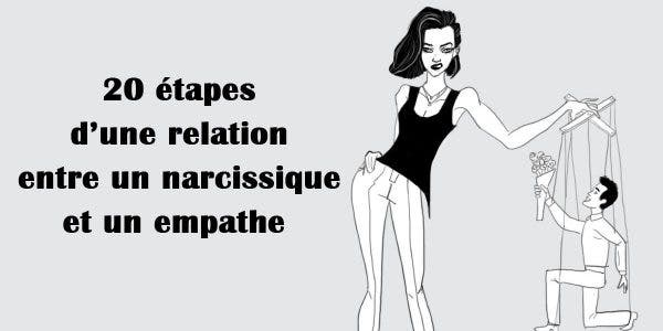 20 étapes d'une relation entre un narcissique et un empathe