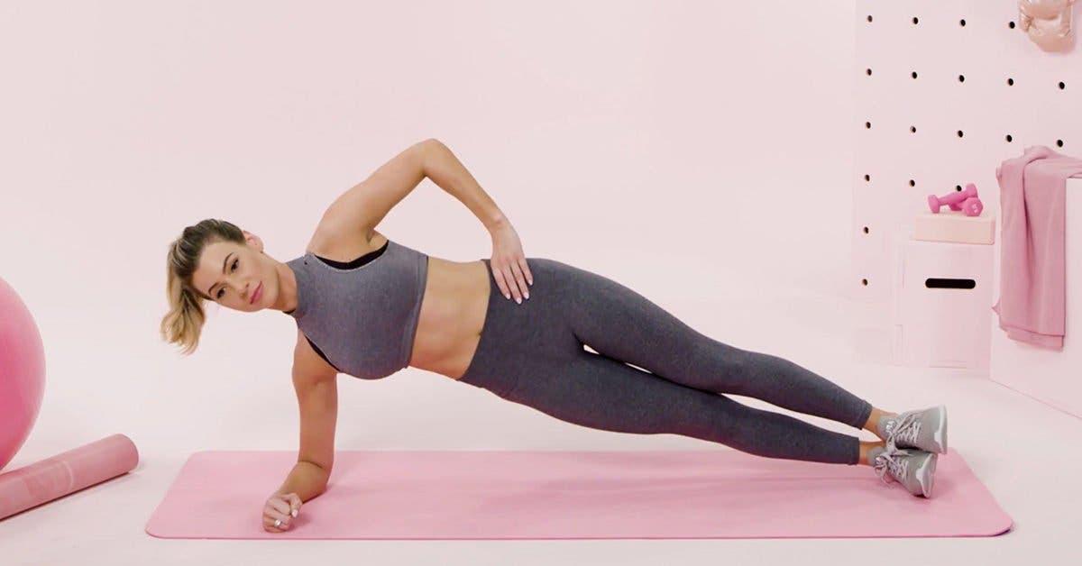 Challenge sur 28 jours de l'exercice de la planche pour tonifier et resserrer le ventre