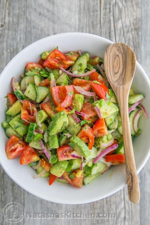 délicieuses salades qui dégonflent le ventre