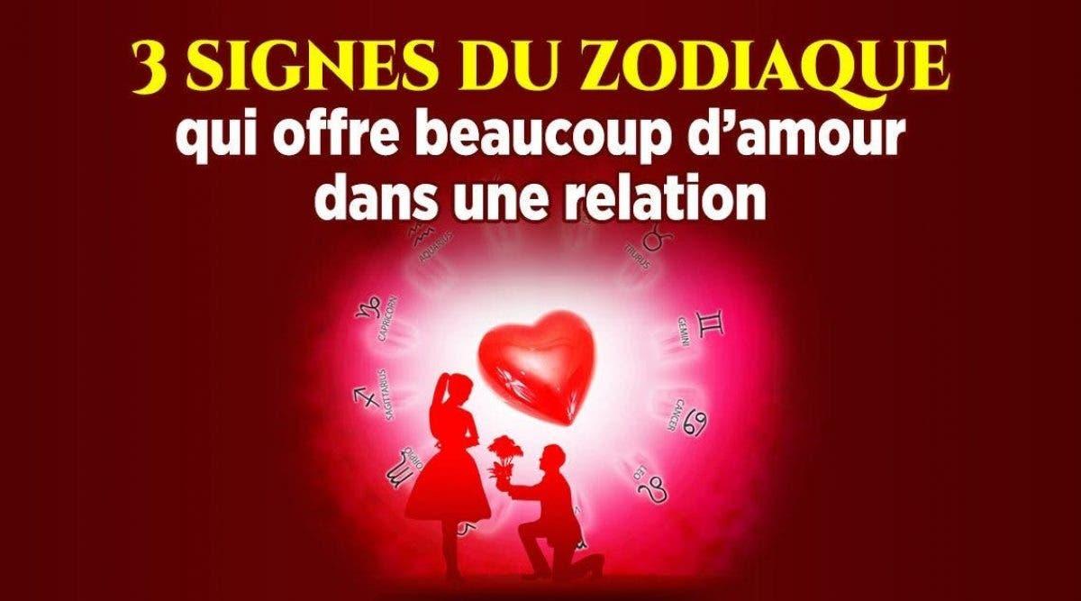 Voici 3 signes du zodiaque qui offre beaucoup d'amour dans une relation