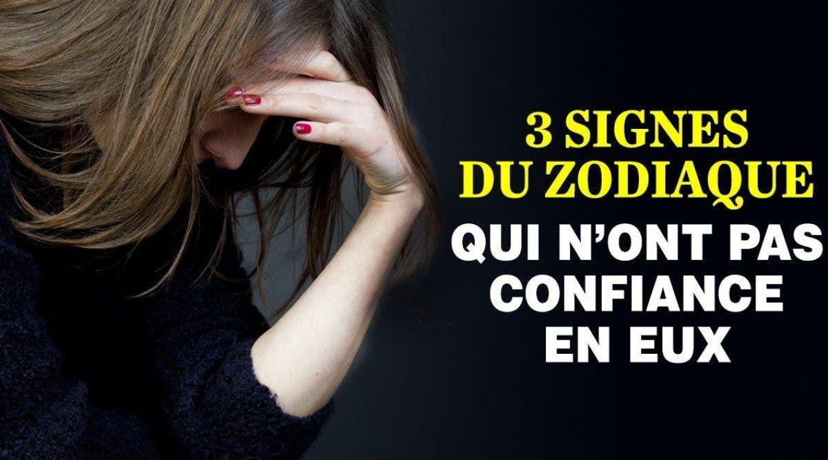 3 signes du zodiaque qui n'ont pas confiance en eux