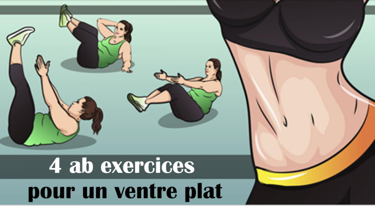 4 exercices à faire pour avoir un ventre plat
