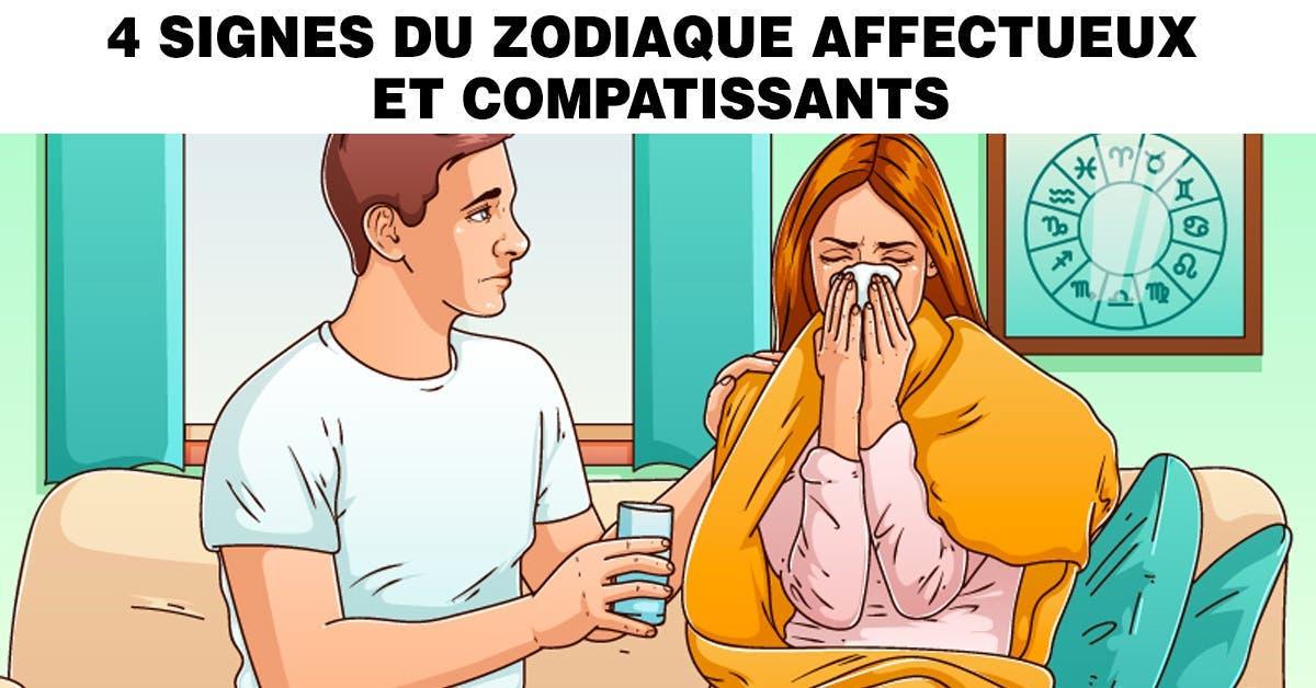 signes du zodiaque affectueux et compatissants