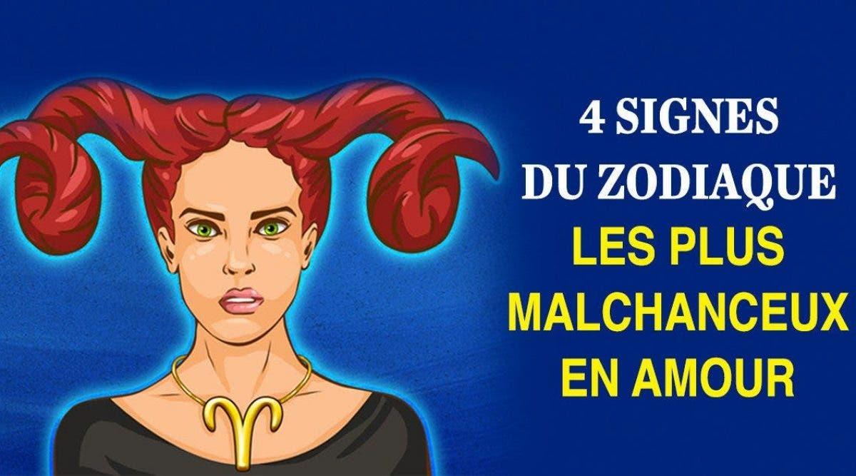 4 signes du zodiaque les plus malchanceux en amour