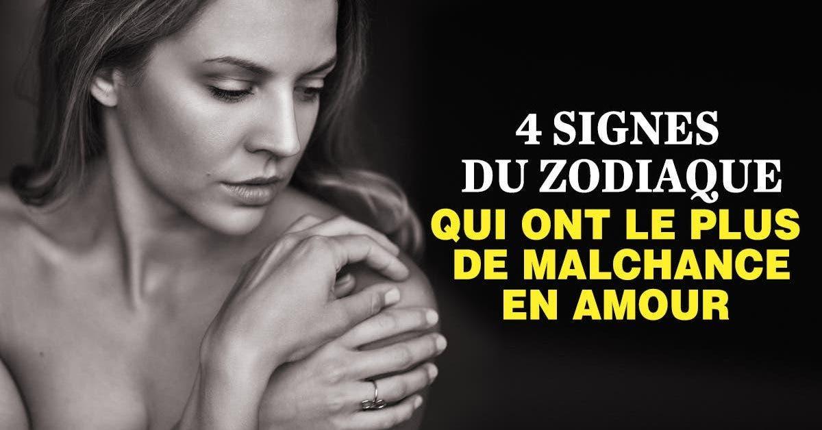 4 signes du zodiaque qui ont le plus de malchance en amour