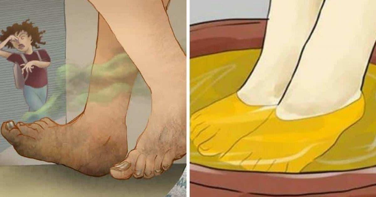 5 astuces naturelles pour eliminer les odeurs des pieds 1