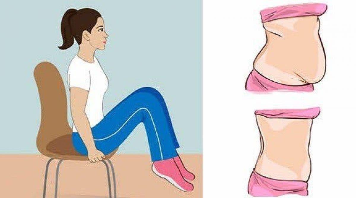 5 exercices à faire assis pour réduire votre graisse abdominale