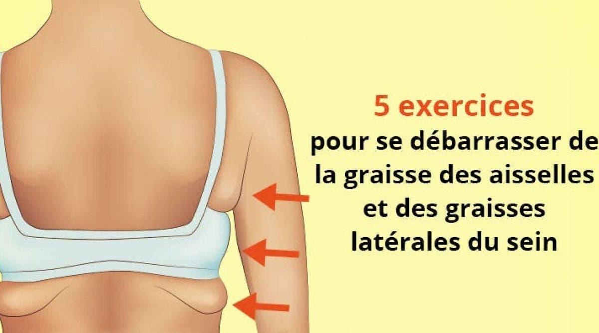 exercices pour se débarrasser de la graisse des aisselles et des graisses latérales du sein