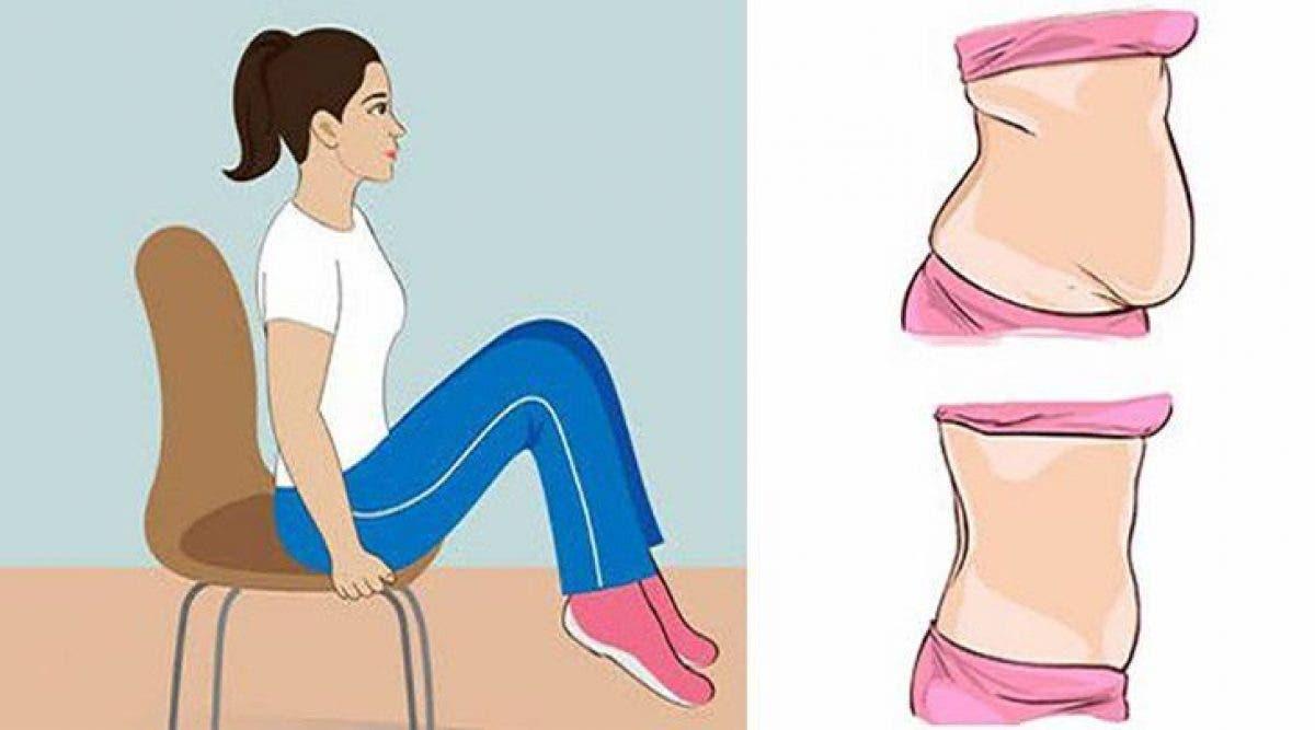 5 exercices qui vont dégonfler votre ventre pendant que vous êtes assis