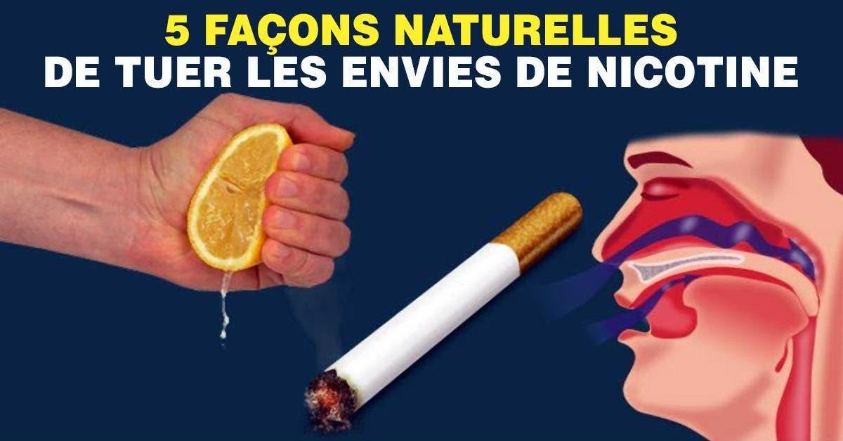 5 facons naturelles de tuer les envies de nicotine