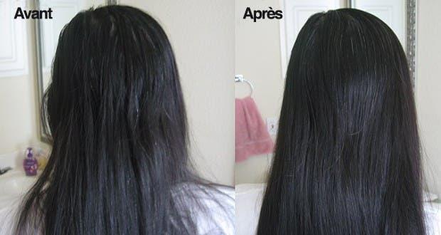 Masque naturel cheveux brillants
