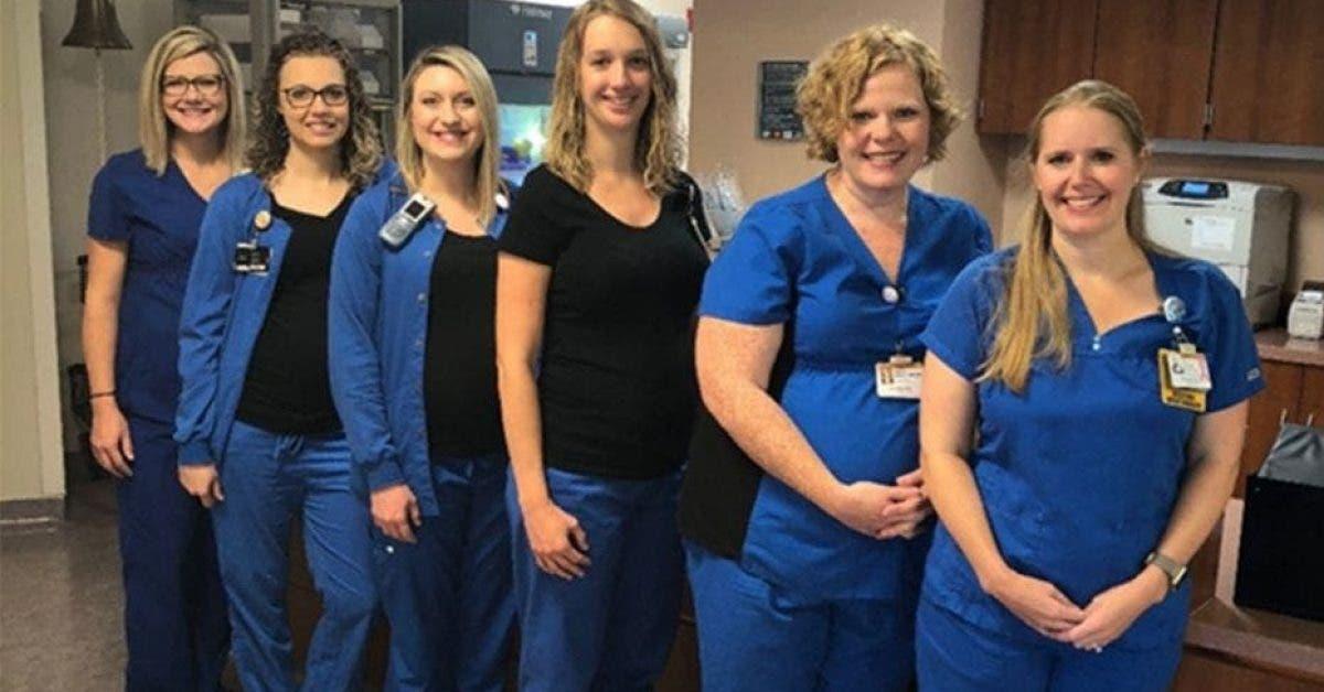 infirmières du même hôpital enceintes en même temps