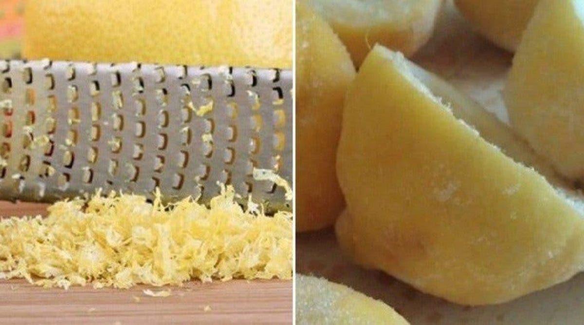 bienfaits du citron congelé pour votre santé
