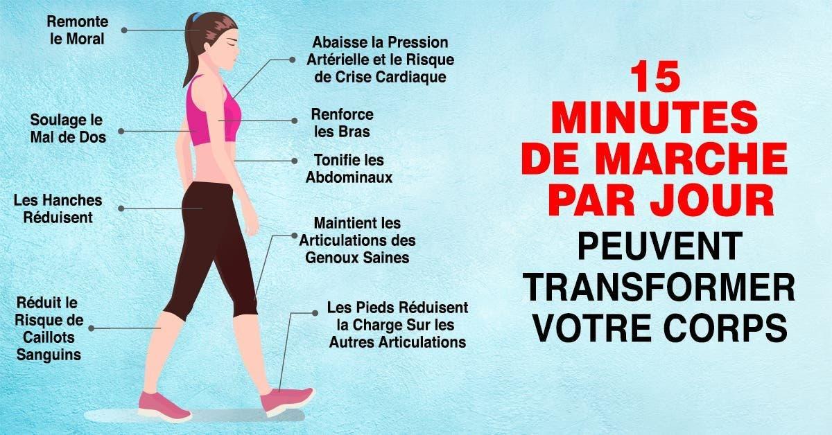 raisons pour lesquelles les médecins recommandent de marcher 15 minutes par jour