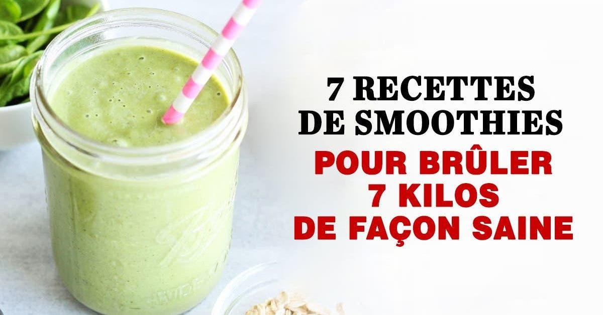 7 recettes de smoothies pour bruler 7 kilos de facon saine