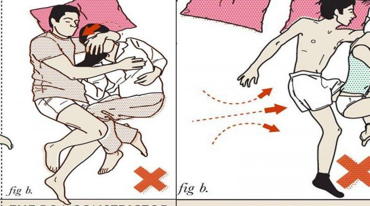 8 positions que les couples doivent éviter pour dormir