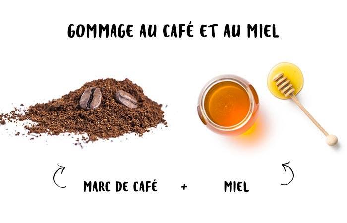9 Gommage au café et au miel