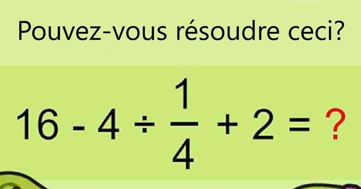 90% des gens n'arrivent pas à résoudre cette équation