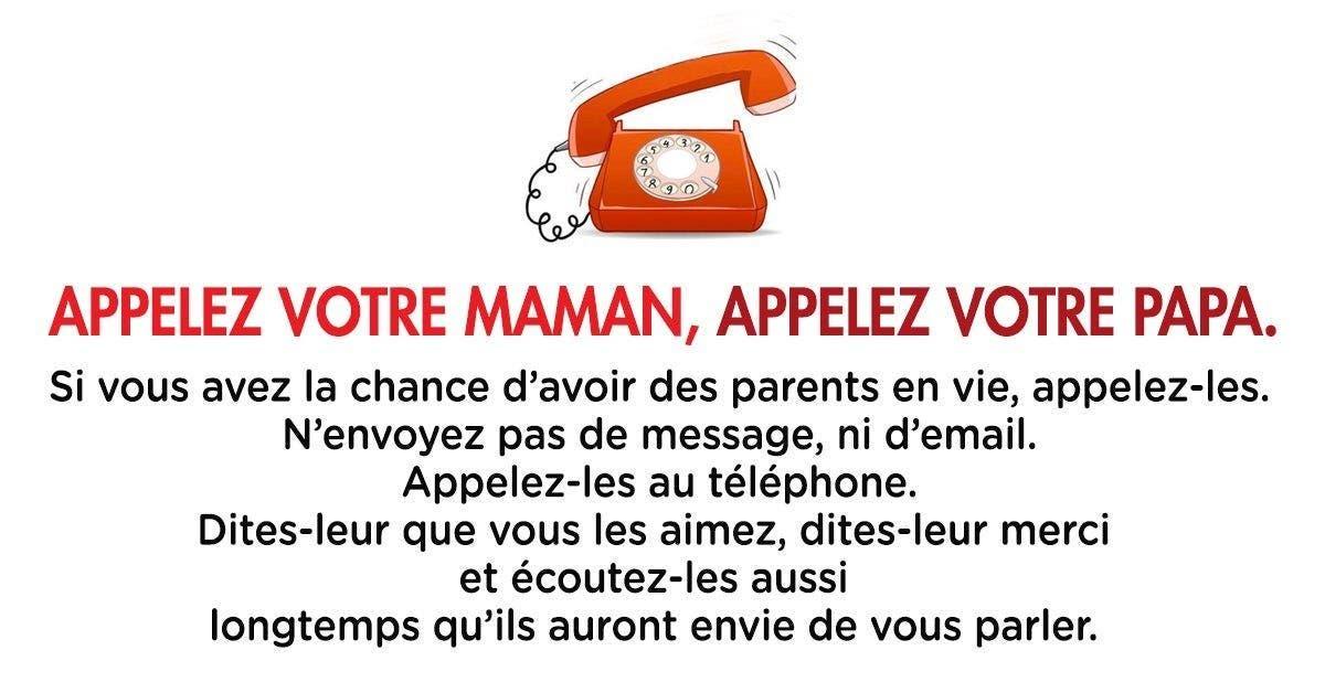 Appelez votre maman