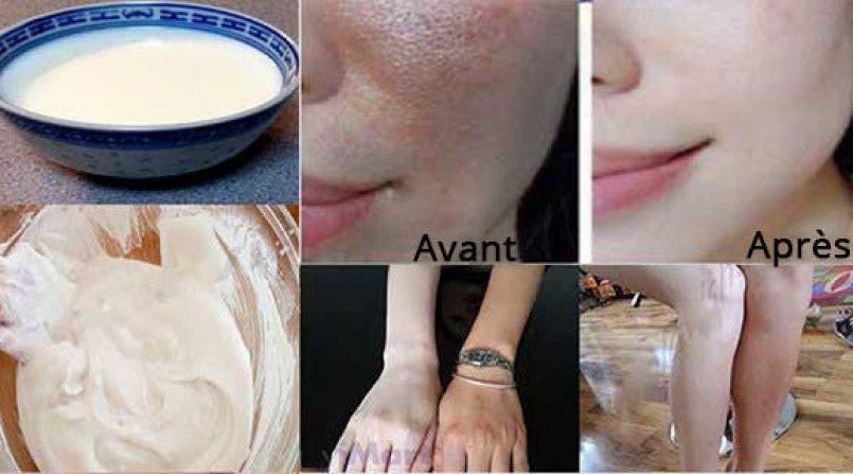 Appliquez cette lotion chaque soir avant de dormir et réveillez-vous avec une peau propre et claire