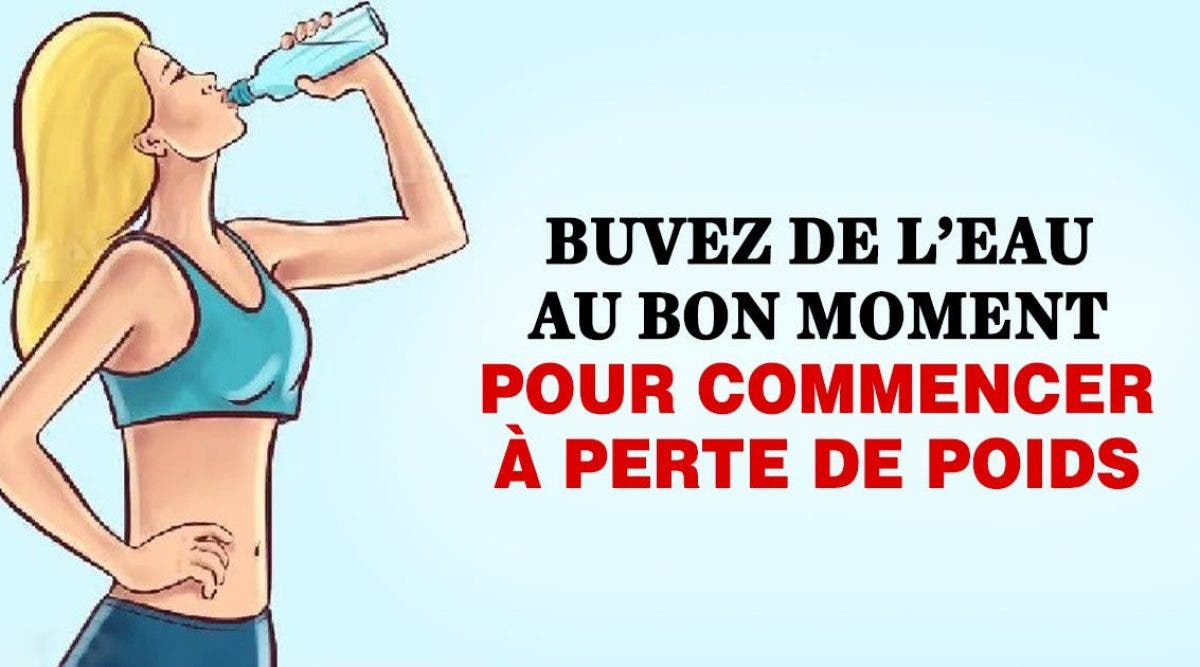 Buvez de l'eau au bon moment pour commencer à perte de poids