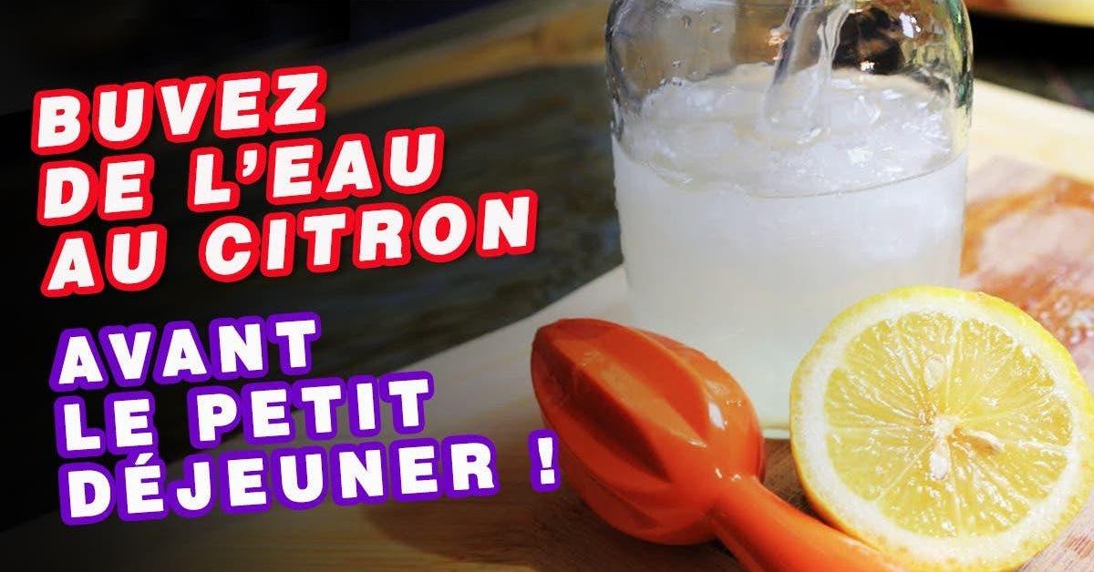 boire de l'eau au citron avant le petit-déjeuner