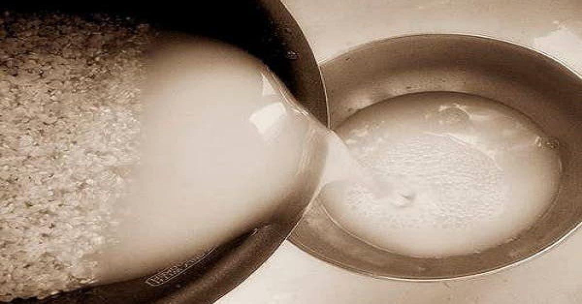 Buvez un verre de l'eau de cuisson du riz et vous verrez ce qui arrive à votre corps