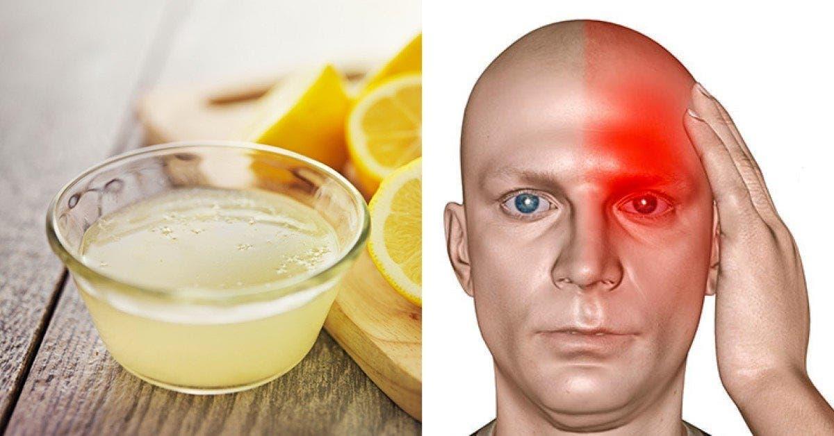 Un remède au sel au citron pour arrêter instantanément un mal de tête