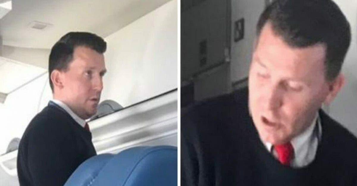 Ce Steward découvre un passager atteint de la maladie de Parkinson dans un avion et lui offre la première classe