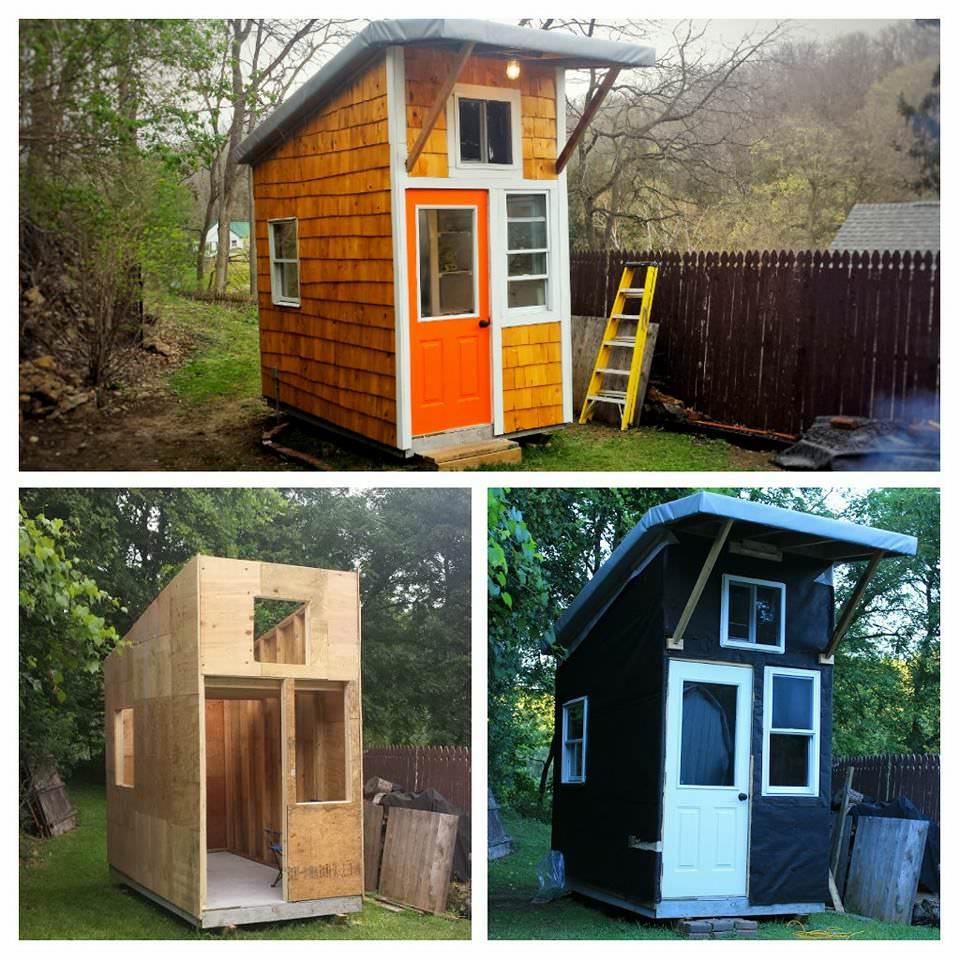 Un garçon de 13 ans construit sa propre petite maison pour 1300€. Découvrez lorsqu'il ouvre la porte et révèle le chef-d'œuvre de 9 m²