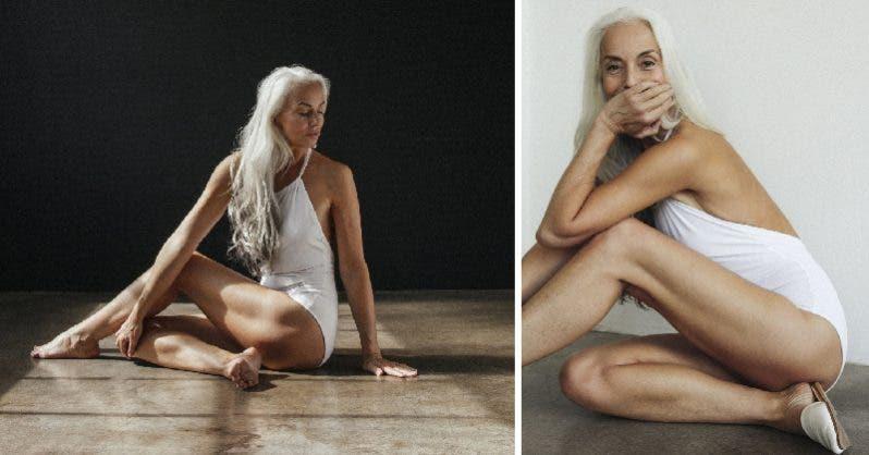 Ce mannequin senior a 61 ans et pose pour une marque de maillots de bain. Voici le secret de sa jeunesse éternelle