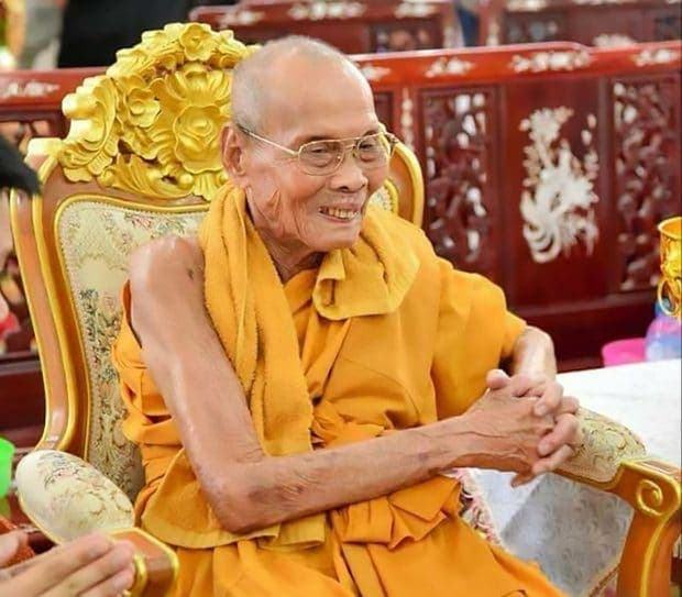Buddhist monk unearthed smiles again