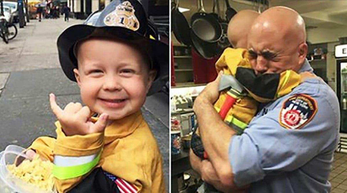 Ce petit garçon réalise son rêve de devenir pompier avant de mourir