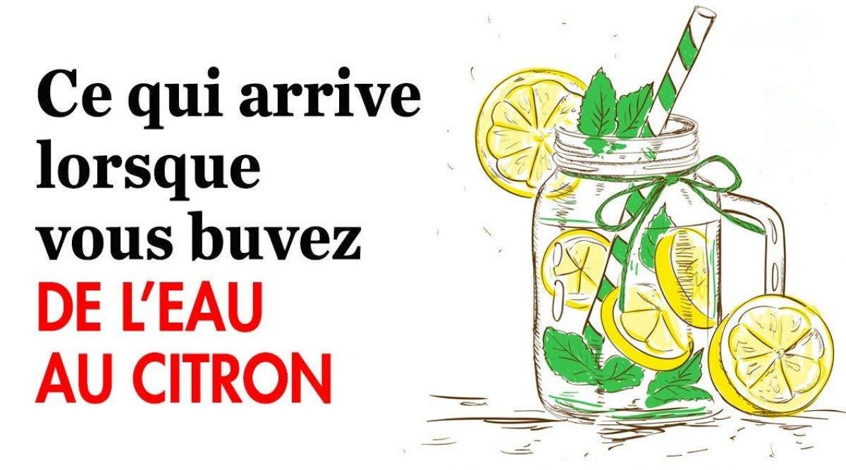 Ce qui arrive lorsque vous buvez de l'eau au citron
