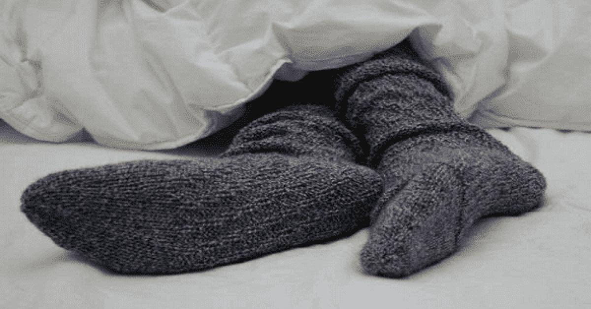 Ce qui arrive quand vous mettez vos chaussette au lit