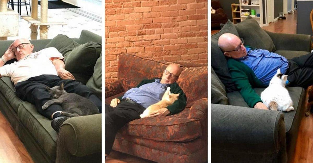 retraité de 75 ans rend visite chaque jour aux animaux