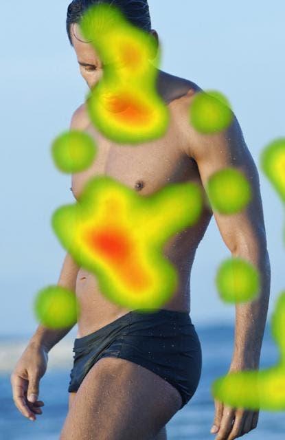 Ce sont les parties du corps d'un homme que les femmes regardent d'abord