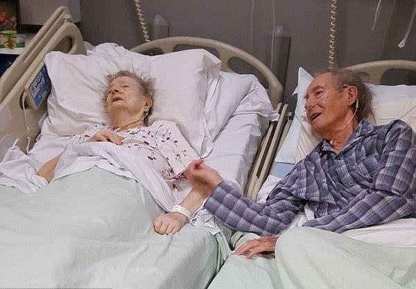 ce vieux couple a encore quelques jours vivre l infirmi re fait quelque chose de formidable. Black Bedroom Furniture Sets. Home Design Ideas