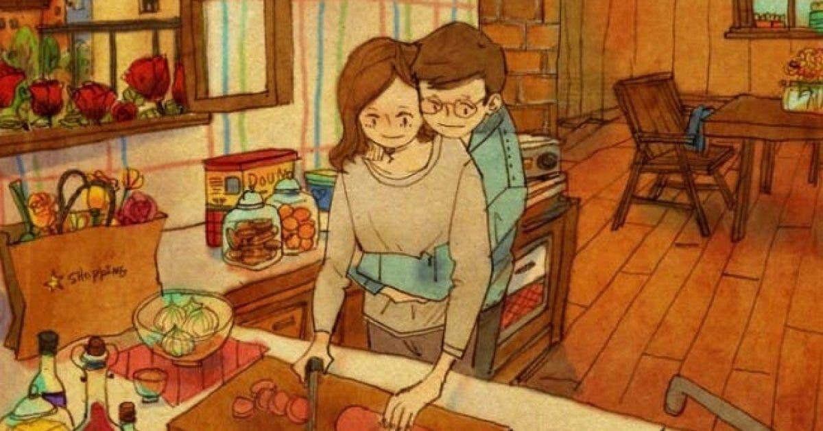 Ces adorables illustrations de relations amoureuses vous rechaufferont le coeur 1