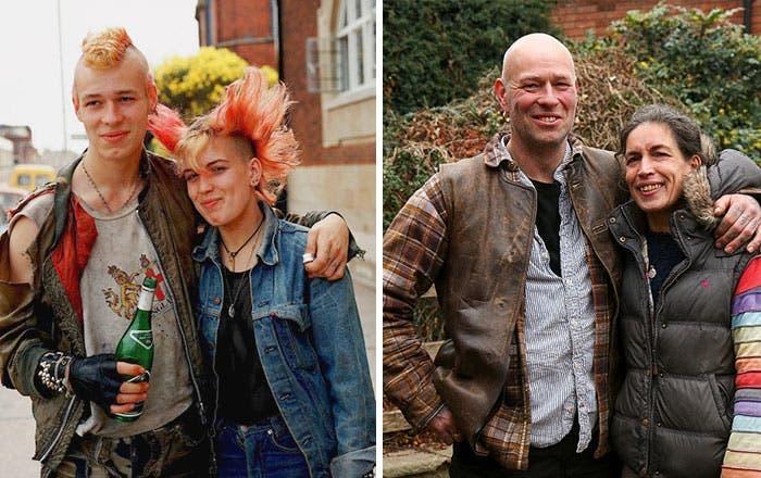 Ces personnes sont prises en photo à 30 ans d'intervalle
