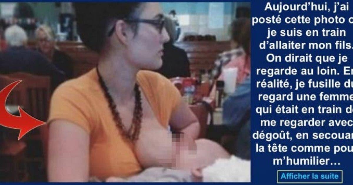 Cette maman publie une photo d'elle en train d'allaiter son bébé en public qui devient virale sur Facebook