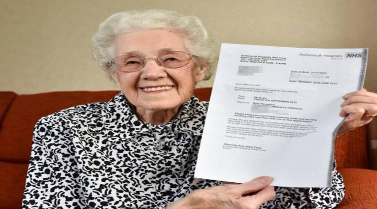 Gjyshja 99 vjeç merr letër nga spitali që e informon atë se është shtatzënë