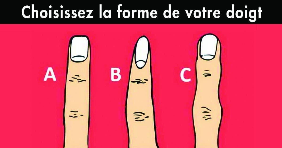 Choisissez la forme de votre doigt