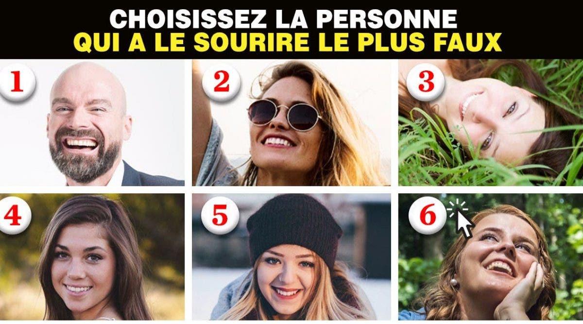 Choisissez la personne qui a le sourire le plus faux et découvrez ce que votre réponse révèle sur vous
